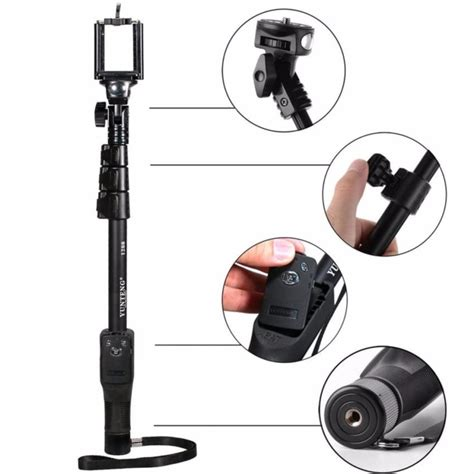 Tongsis Monopod Yunteng yunteng tongsis wireless bluetooth monopod yt 1288 oem black jakartanotebook