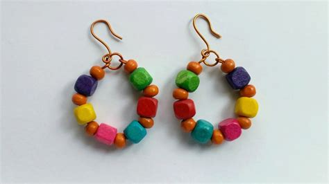 Bead Your Own Sassy Earrings Or Someone Do It For You Either Way Its Your Choice At Designer Fashiontribes Fashion by Create Cool Wire And Wooden Bead Earrings Diy Style