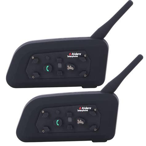 Headset Bluetooth Gblue C5 2 pcs v6 bt interphone motorcycle bluetooth helmet headset intercom intercomunicador moto for 6