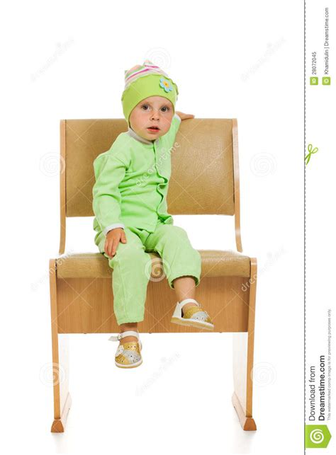High Chair That Sits In Chair by The Sits On A High Chair Royalty Free Stock