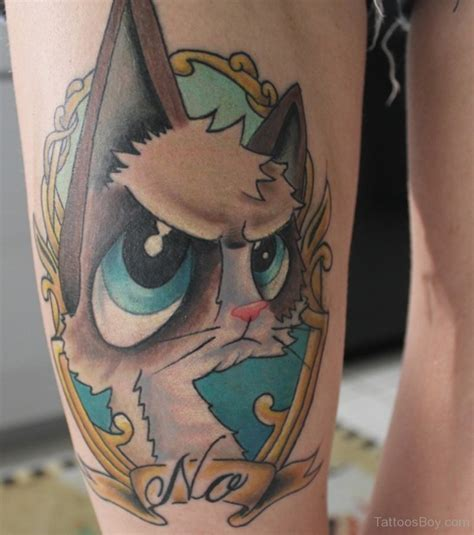 cartoon tattoo on leg cartoon grumpy cat tattoo designs tattoo pictures