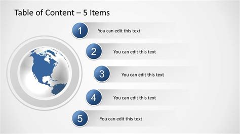 Table Of Content Slides For Powerpoint Slidemodel Powerpoint Table Of Contents Template
