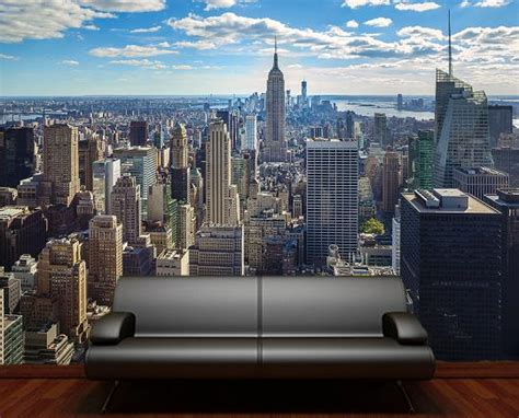 new york wall mural new york skyline empire state building manhattan decorating wallpaper mural 9
