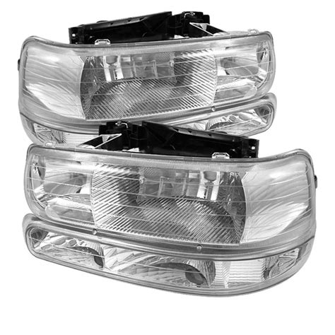 xtune 1999 2002 chevy silverado 1500 2500 headlights bumper lights