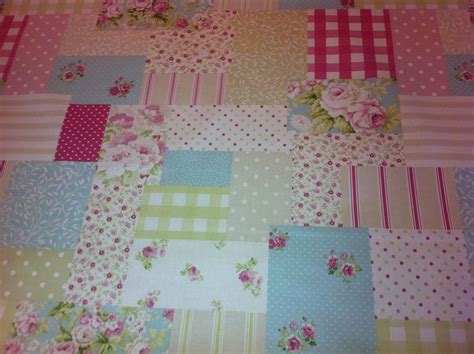 Patchwork Cotton Fabric - fryett s vintage patchwork pink cotton fabric for curtain