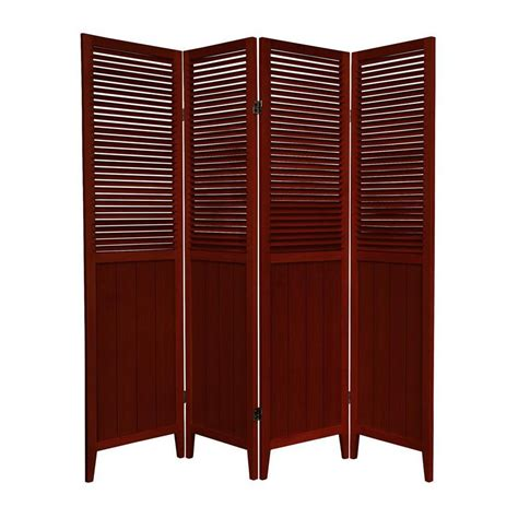 lowes room dividers shop furniture room dividers 4 panel rosewood folding indoor privacy screen at lowes
