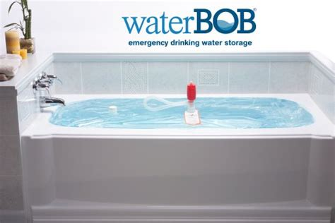 how much water fits in a bathtub waterbob emergency drinking water storage 100 gallons