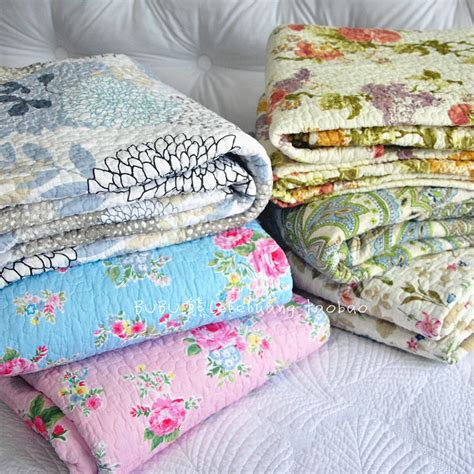 100 cotton fashion quilts floral print pastoral throw