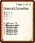 minecraft text colors overview power motd bukkit plugins projects bukkit