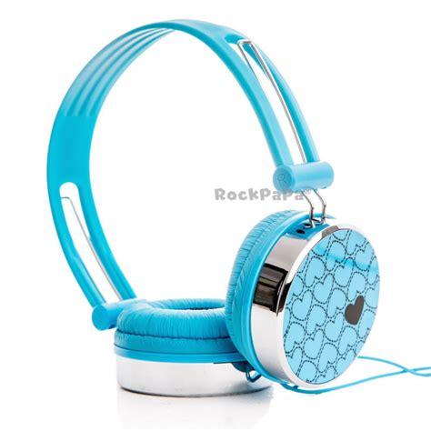 heart pattern chitoge mp3 rockpapa heart pattern over ear dj headphones headsets