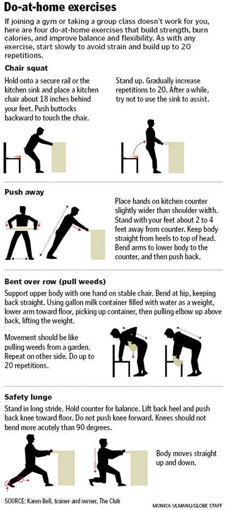 easy exercises to do at home boston