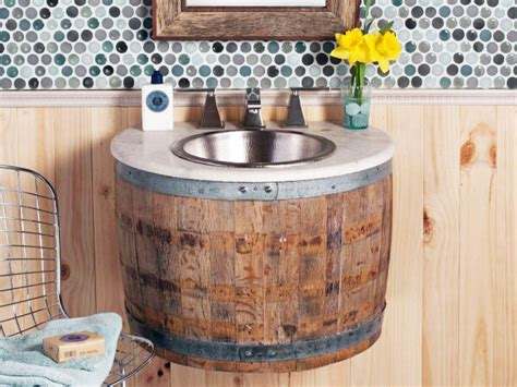 dashing diy wine barrel with wine barrels reclaimed as bathroom furnishing by artisan company trails inhabitat