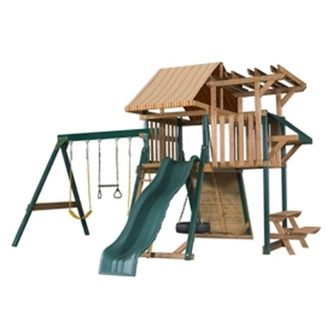 heartland swing set heartland playsets captains loft b residential wood
