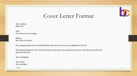 covering letter format for document submission what goes