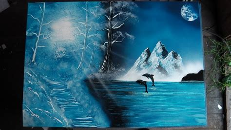 how to spray paint winter dolphins