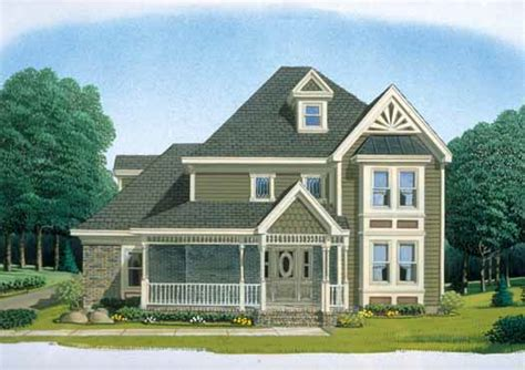 Two Story Country House Plans by Country Style House Plans 2651 Square Foot Home 2