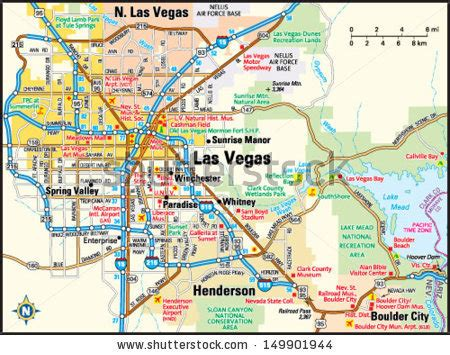 us area code las vegas nevada road map stock images royalty free images