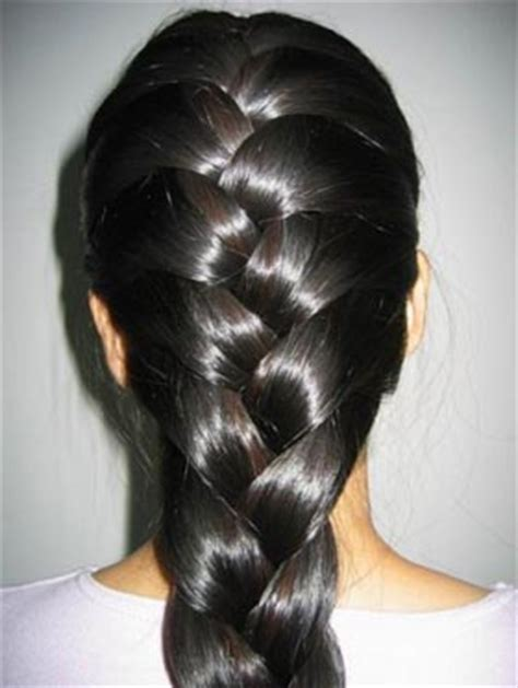 photos of lovely black silky hairs of indian in braided pony styles trenzas trendsandco