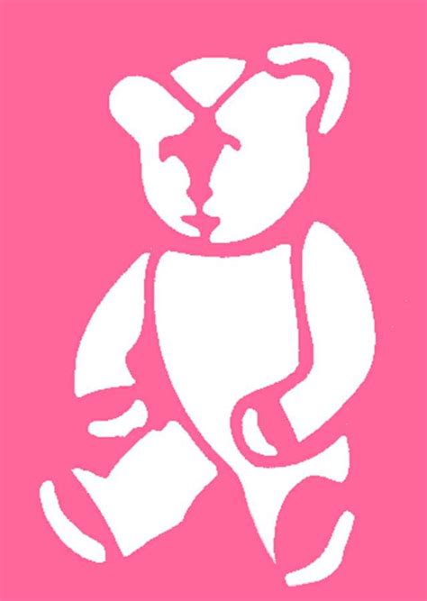 Best Photos of Teddy Bear Stencils Printable Stencils