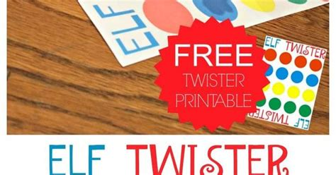 printable elf twister game elf on the shelf ideas shelf ideas elves and frugal