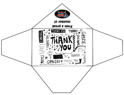 Thank You Letter Envelope Template General Thank You Envelopes The Mouse