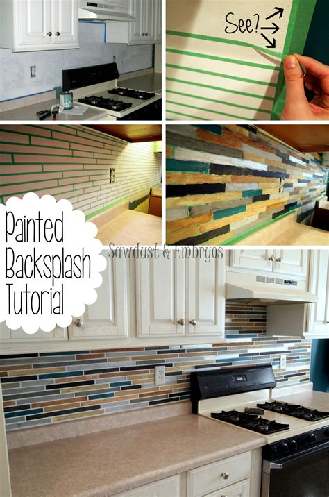faux tile painted backsplash using chalky finish paint how to paint a backsplash to look like tile