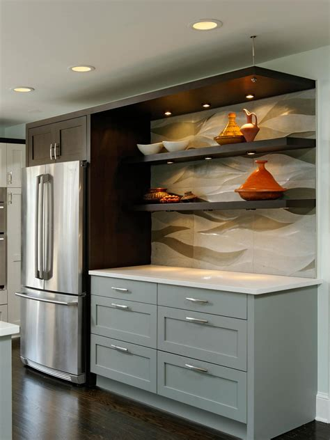 floating kitchen shelves with lights photos hgtv
