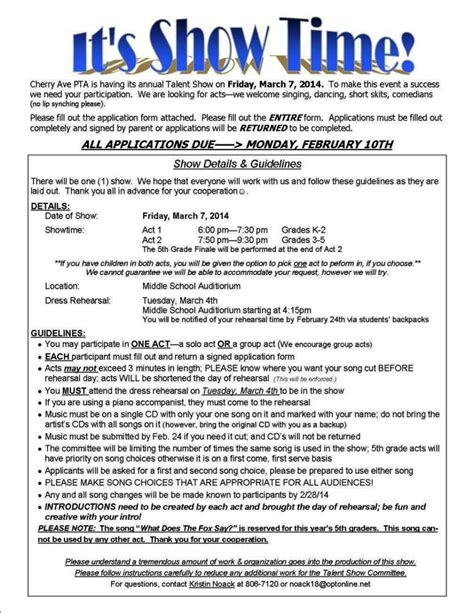 talent show registration form template talent show registration form template sletemplatess
