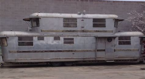 BangShift.com Take A Video Tour Of This Two Story Spartan Manor 1950's Travel Trailer