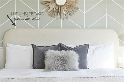 diy linen headboard mini master makeover in less than 30 min city farmhouse
