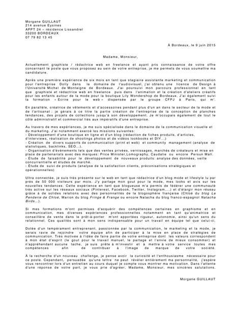 Lettre De Motivation Stage Marketing doc lettre de motivation assistant marketing