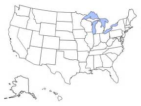 blank political map of the united states of america