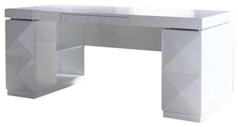 White Modern Desks Modern White Lacquer Office Desk Modern Desks And Hutches By La Furniture Store