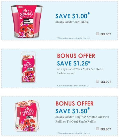new right at home glade ziploc coupons