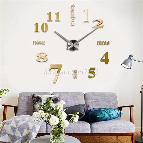 Home Decor Hours Frameless Large Diy 3d Wall Clock Home Decor Cool Mirror Sticker Hours L28 Ebay