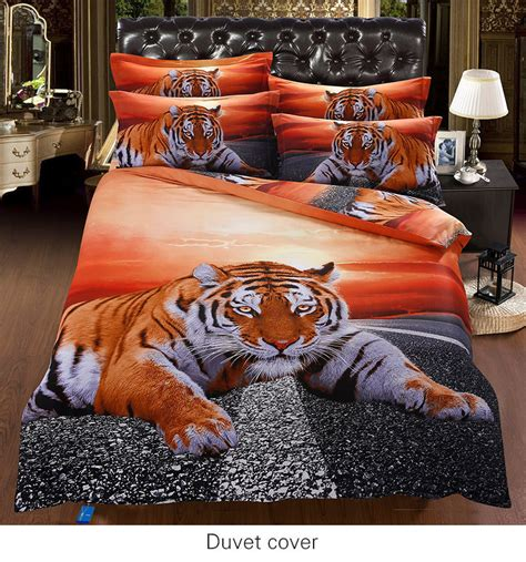 7pc 100 cotton luxury 3d super king comforter sets animal