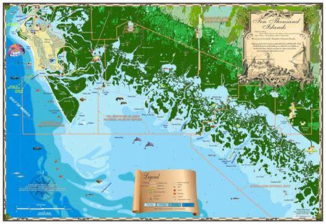 map of ten thousand islands florida florida maps ten thousand islands island map store