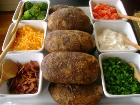 Baked Potato Bar Toppings by Simply Fit Baked Potato Bar And Salad