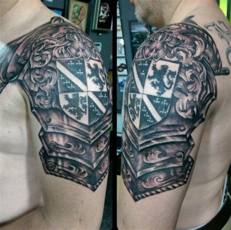 shoulder shield tattoo 17 best shoulder armor designs for