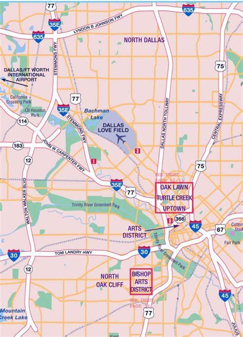 map of oak texas dallas texas oak lawn oak cliff map