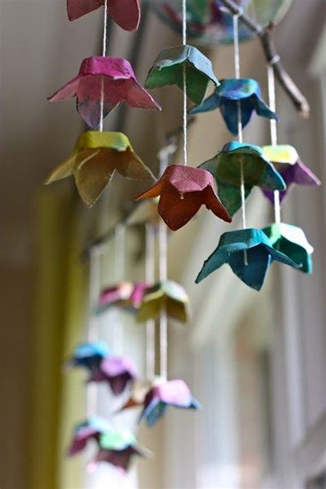 hanging origami flowers diy hanging mobiles that will beautify your home