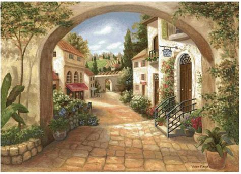 quaint town quaint town tapestry 50 quot to 59 quot