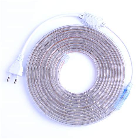 plug in led strip lights smd 5050 ac220v led strip flexible light 60leds m