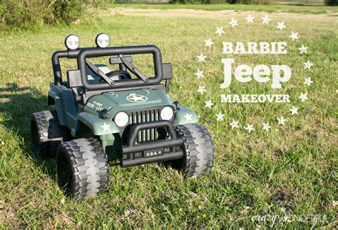 barbie jeep barbie jeep makeover willy s jeep crazy wonderful