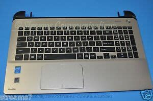 toshiba satellite l55 b laptop palmrest w touchpad a000295230 l55t b5271 ebay