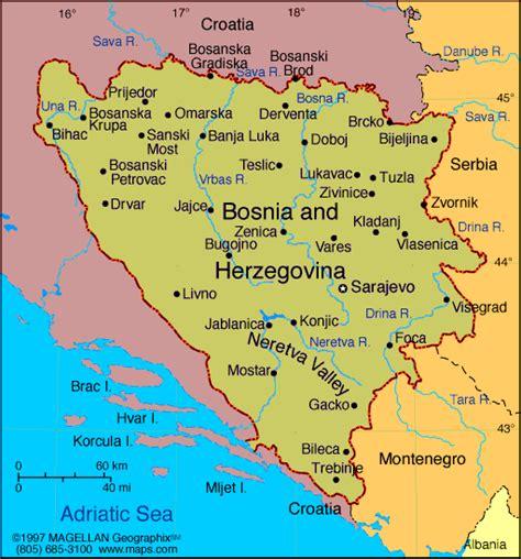 map of bosnia and herzegovina map of bosnia herzegovina
