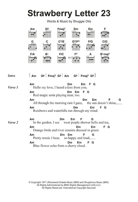 strawberry swing chords sheet digital files to print licensed guitar
