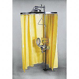 emergency shower curtain bradley curtain privacy emergency eye wash and shower