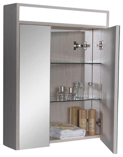 fresca light oak bathroom medicine cabinet w three level