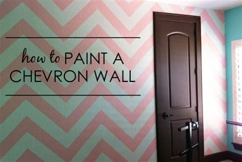 how to paint a chevron wall project nursery